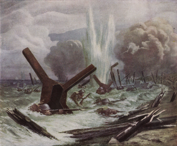capt o n fisher the assault painting.jpg