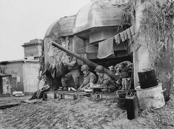 German bunker captured.jpg