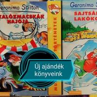 Ajándék könyvek az iskolai könyvtárban
