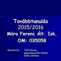 Továbbtanulás 2015/2016