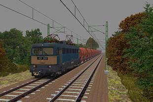Vonatösszeállítás: 431-283 - Zas tartályos teherkocsikkal
