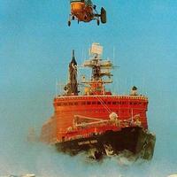 Orosz jégtörők az Északi-sarkon