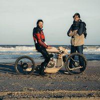Egy fából készült motor, ami algával üzemel.