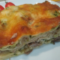 Sült cukkínivel és rozé kacsamellel töltött lasagne