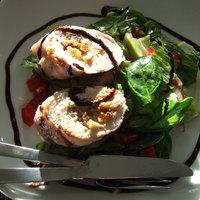 Gorgonzolás fügével töltött csirkemellrolád baconbe göngyölve