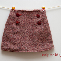 Sailboat szoknya gyapjúból - Wool Sailboat Skirt