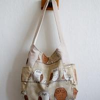 Bézs baglyos táska