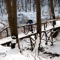 Kékestető bringával, hóban, -11 fokban!