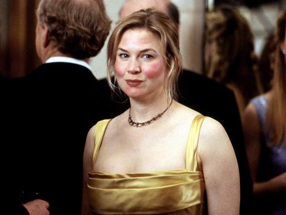 Legnépszerűbb szerepében, Bridget Jonesként.