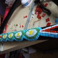 Így kerül a mozaik a bringa vázra :)
