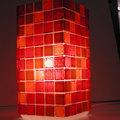 Minimál üvegmozaik lámpa