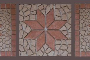 Mozaik betét az előszobába