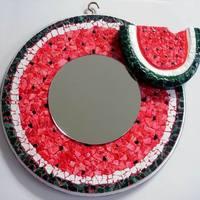 Görögdinnye tükör - tojáshéj mozaik