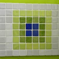 Egyszerű de nagyszerű lime mozaikbetétes csempe edényalátét