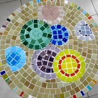 Első mozaikos asztalom - A buborékos  :)