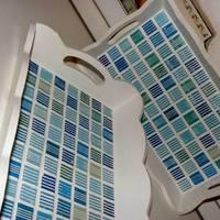 Fordított mozaikos tálcák