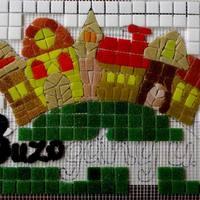 Mesés mozaik házszám - utcanév tábla