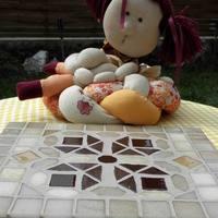 Mozaikberakásos csempe edény-alátét