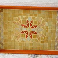 Mediterrán mozaik tálca