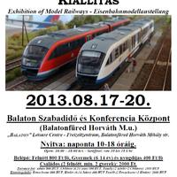 Nemzetközi vasútmodell-kiállítás Balatonfüreden