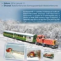 Téli Berek fotósvonat a Balatonfenyvesi GV-n!