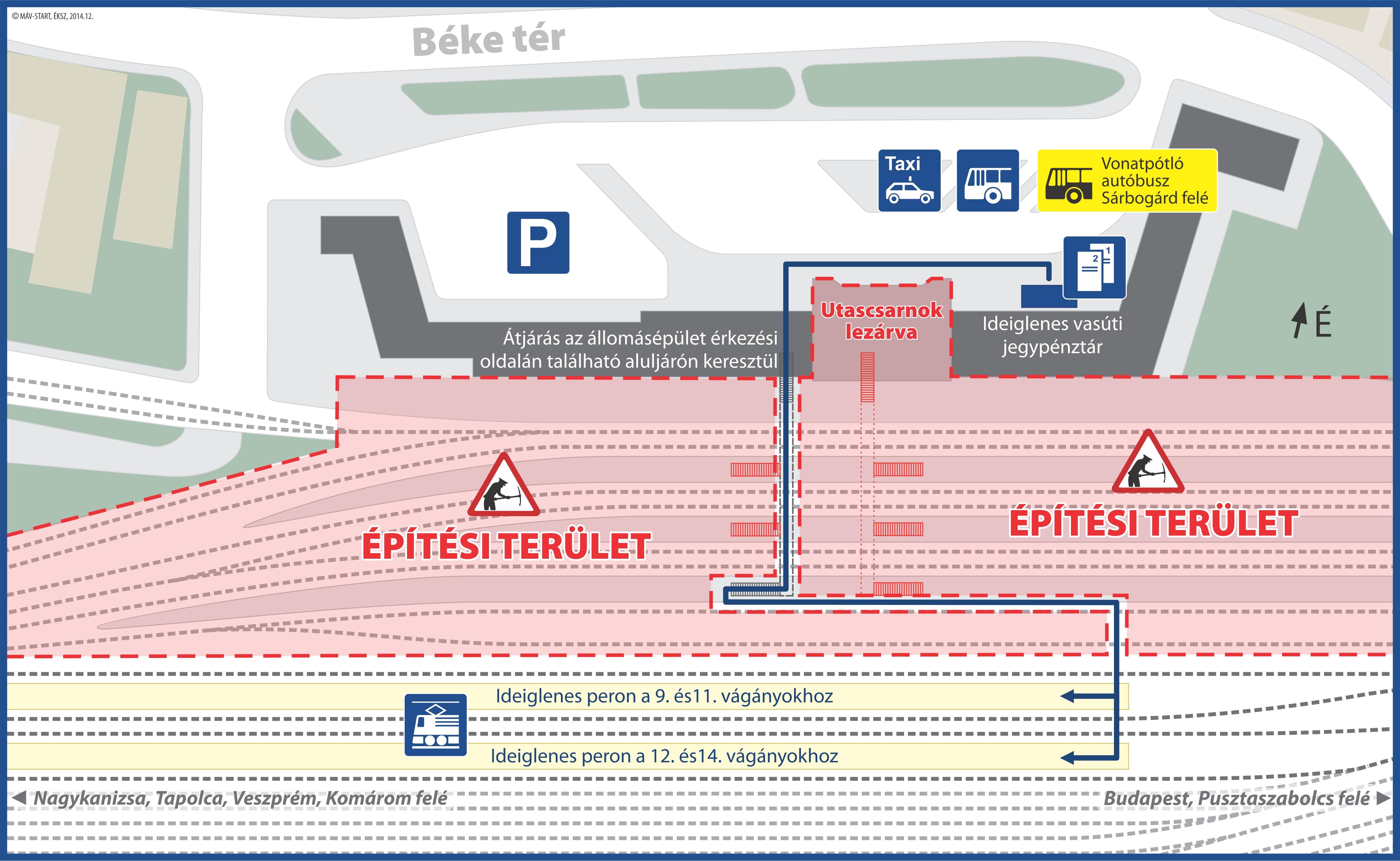 székesfehérvár térkép vasútállomás Komoly változások Székesfehérvár átépítése miatt   Mozdonyról székesfehérvár térkép vasútállomás