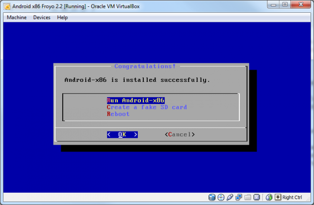 Android-x86 installed
