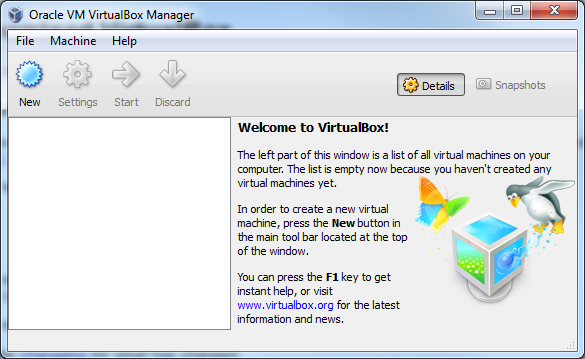 Fresh VirtualBox install