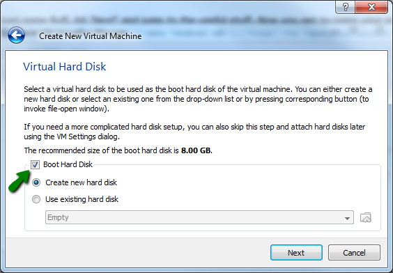 Virtual Hard Disk Creation