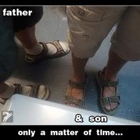 Apa és fia...