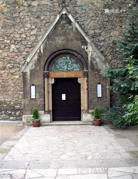 A Szent Mihály kápolna bejárata.