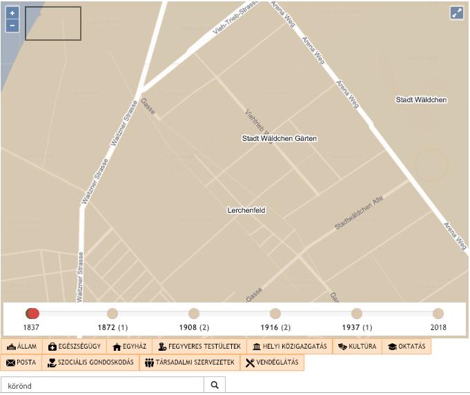 1837. Még nincsen ilyen nevű tér és az utcák is teljesen más nyomvonalon haladnak ezen a területen. Az utcanevek német nyelvűek.