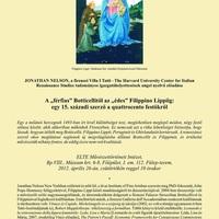 Jonathan Wilson előadása a quattrocento festőkről
