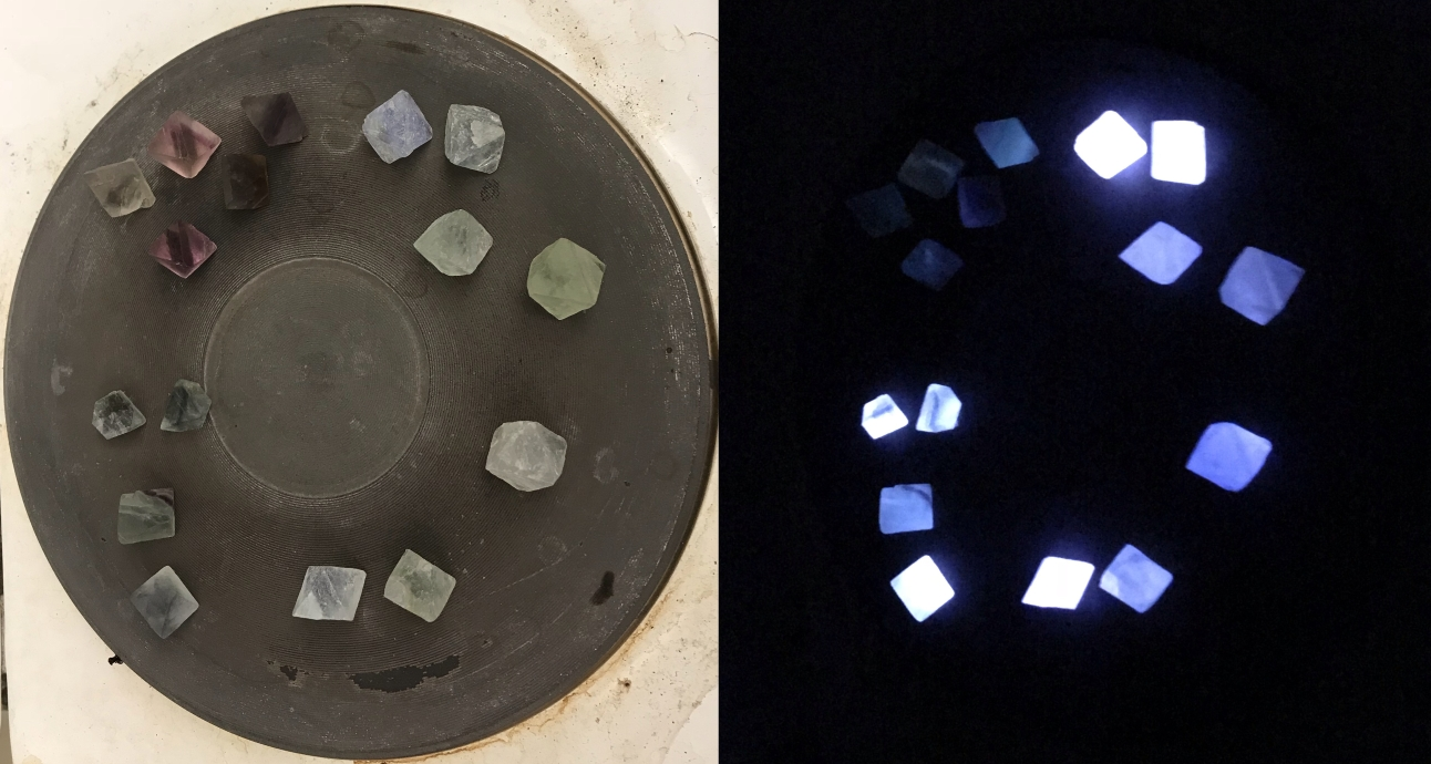 Fluorit a rezsón, avagy termolumineszcencia a konyhában