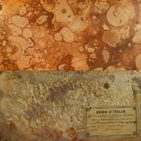 """Mészkő """"márvány"""" a II. Viktor Emánuel által adományozott olasz díszítőkő-gyűjteményből"""