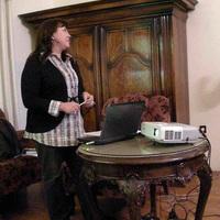 Svetlana Bancheva a Bolgár Tudományos Akadémia munkatársa a Növénytárban végzi kutatásait a Synthesys program támogatásával