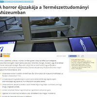 Index: A horror éjszakája a Természettudományi Múzeumban