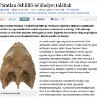 Dulai Alfréd: Páratlan őshüllő-lelőhelyet találtak
