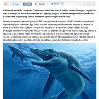 Dulai Alfréd: Óriás tengeri ragadozó kövülete került elő (Origo)