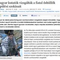 Dulai Alfréd: Magyar kutatók vizsgálták a fiatal őshüllők repülési szokásait