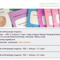 Elkezdődött az Antropológiai Füzetek (Anthropologia hungarica) példányainak digitalizálása