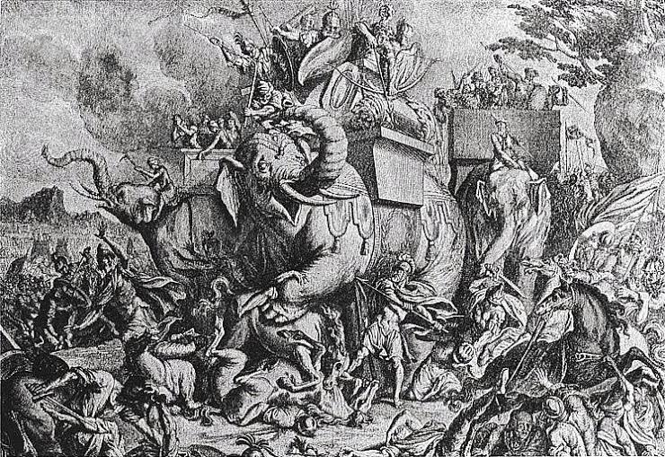 Elefántok az ókori és modern csatatereken, tevegelő, kutyaszánozó, rénszarvast  lovagoló elitalakulatok