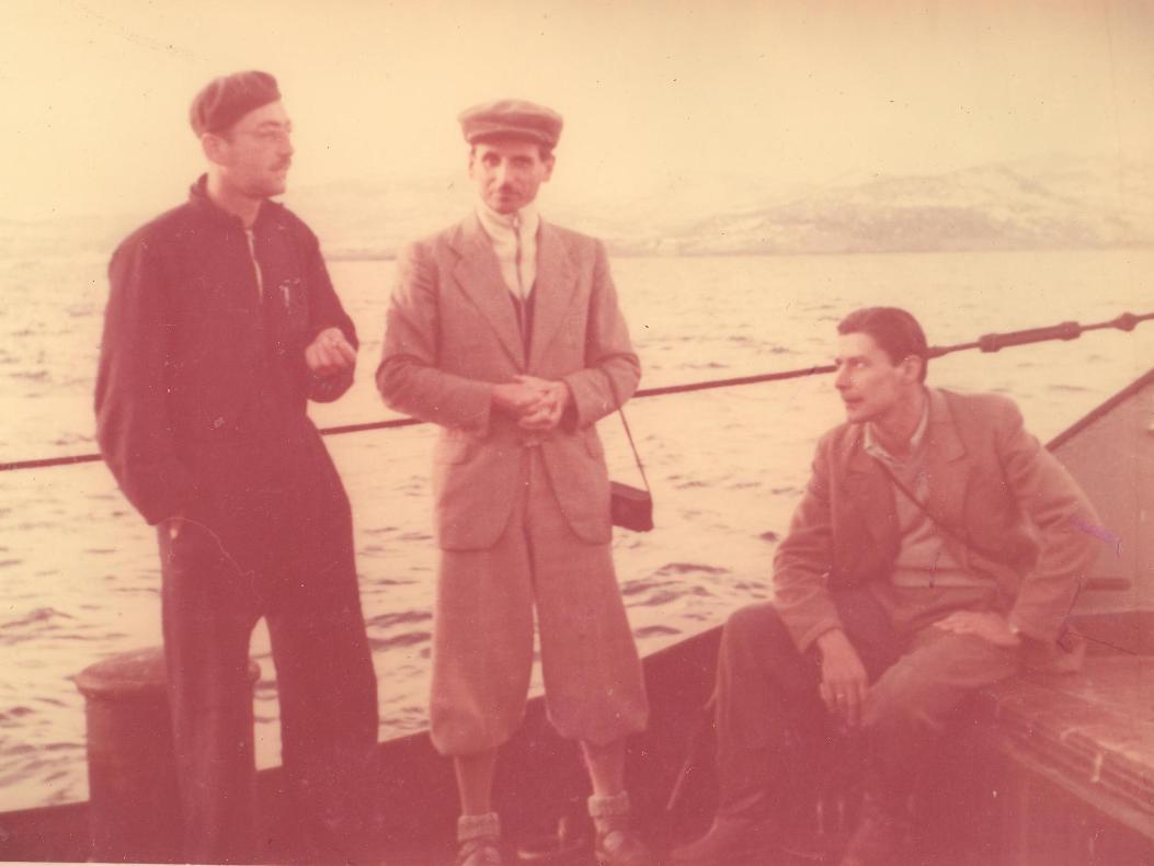 Dely, Horváth és Gozmány a hazaúton, Libanon partjainál.