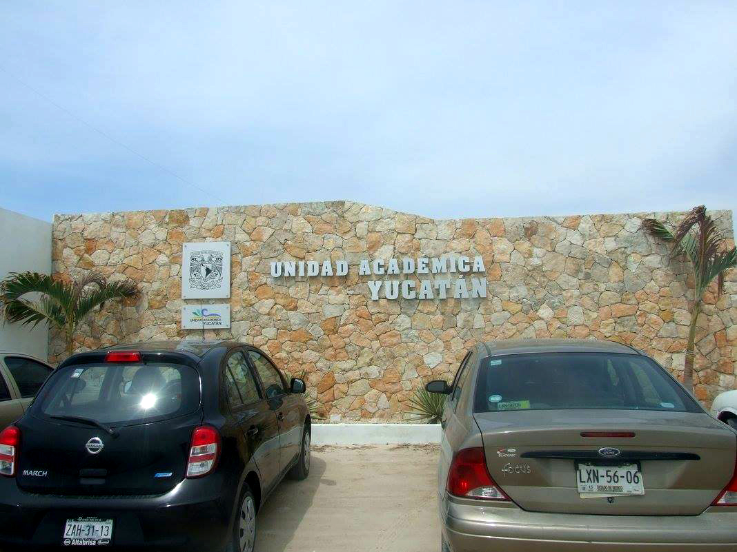 Az UNAM Sisalban lévő akadémiai intézetének bejárata.