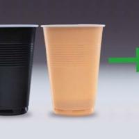 Műanyag kávés pohárból időtálló kültéri bútor