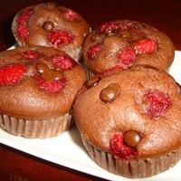Spontán csokis-málnás muffin