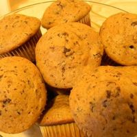 Csokis-gesztenyés muffin rúmos mazsolával