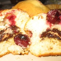 Omlós meggyes muffin mandulaaromával