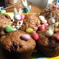 Húsvéti extra-csokis, meggyes muffin