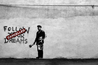 Banksy: Follow Your Dreams / Cancelled